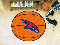 "Atlanta Hawks Basketball Mat 29"" Diameter"