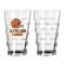 Cleveland Browns Logo Satin Etched Pint Glass Set