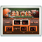 "Cleveland Browns Clock 14""x19"" Scoreboard Style Indoor Outdoor"