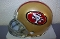 San Francisco 49ers Replica Mini Helmet Riddell