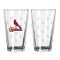 St. Louis Cardinals Logo Satin Etched Pint Glass Set