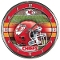 Kansas City Chiefs Round Chrome Wall Clock