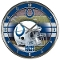Indianapolis Colts Round Chrome Wall Clock