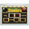 "Pittsburgh Steelers Clock 14""x19"" Scoreboard Indoor Outdoor"