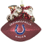 Indianapolis Colts Peggy Abrams Glass Christmas Tree Ornament