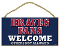 "Atlanta Braves 5""x10"" Welcome Wood Sign"