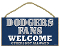 "Los Angeles Dodgers 5""x10"" Welcome Wood Sign"
