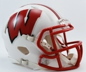 Wisconsin Badgers Replica Speed Mini Helmet Riddell