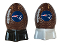 New England Patriots NFL Salt and Pepper Shakers Ceramic