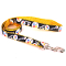 Pittsburgh Steelers Medium Dog Ribbon Lead Leash Nylon 6' Long