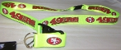 "San Francisco 49ers Breakaway Lanyard Key Chain 36"" Long NEON!"