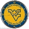 West Virginia Mountaineers Chrome Wall Clock