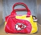 Kansas City Chiefs Perfect Bowler Handbag Purse organizer