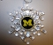 "Michigan Wolverines 3"" Traditional Snowflake Ornament"