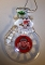 "Ohio State Buckeyes 3"" Traditional Snowman Ornament"