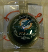 "Miami Dolphins 2 5/8"" Traditional Bulb Ornament"