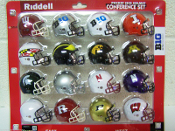 2015 Big 10 Conference Pocket Size Revolution Helmet Set