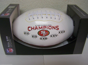 San Francisco 49ers Super Bowl Champs on the Fifty Football