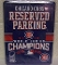 Chicago Cubs 2016 World Series Champs Metal Parking Sign 8 x 11""