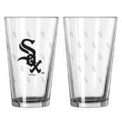 Chicago White Sox Logo Satin Etched Pint Glass Set