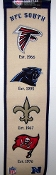 NFC National Football Conference South Wool Heritage Banner