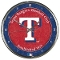 Texas Rangers Round Chrome Wall Clock