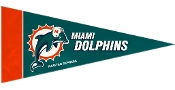 Miami Dolphins Mini Pennant 8 Pack Set
