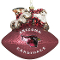 Arizona Cardinals Peggy Abrams Glass Christmas Tree Ornament