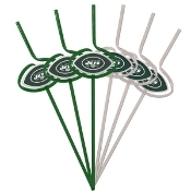 New York Jets Sipping Straws Pack of 6