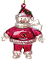 Arizona Cardinals Crystal Snowman Christmas Tree Ornament