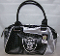 Oakland Raiders Perfect Bowler Handbag Purse Personal Organizer