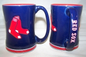 Boston Red Sox MLB 15 oz Sculpted Relief Mug Coffee Cup