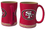 San Francisco 49ers NFL 15 oz Sculpted Relief Mug Coffee Cup