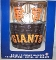 SF Giants Metal Ice Bucket-4 16 oz Glasses-&-12 Coasters