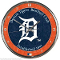 Detroit Tigers Round Chrome Wall Clock