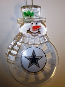 "NFL 3"" Traditional Snowman Christmas Tree Ornament  - PICK TEAM"