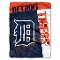 "Detroit Tigers 60""x80"" Plush Raschel Throw Blanket"