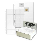 20 Pocket Pages Vinyl BCW Brand Box (250)