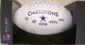 Dallas Cowboys Super Bowl Champs on the Fifty Football
