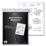 "8.5""x11"" Photo Document Sleeve BCW Brand Pack (100)"