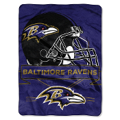 "Baltimore Ravens 60""x80"" Plush Raschel Throw Blanket"