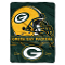 "Green Bay Packers 60""x80"" Plush Raschel Throw Blanket"