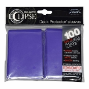 Deck Protector Sleeves Eclipse Matte Royal Purple Ultra Pro 100